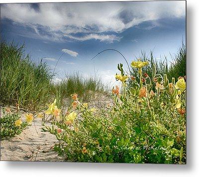 Flowery Dunes Metal Print