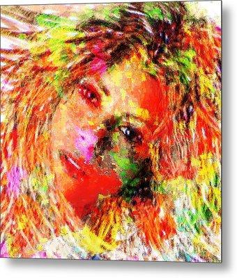 Flowery Shakira Metal Print by Navo Art