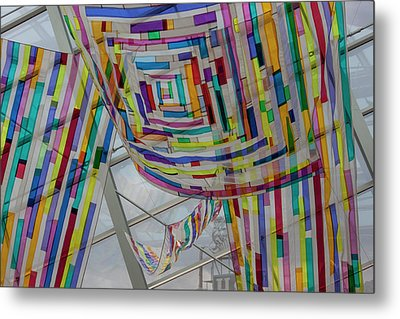 Flowing Color II Metal Print by Suzanne Gaff