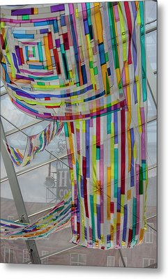 Flowing Color Metal Print by Suzanne Gaff