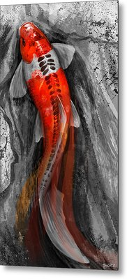 Flowing Koi Metal Print by Steve Goad