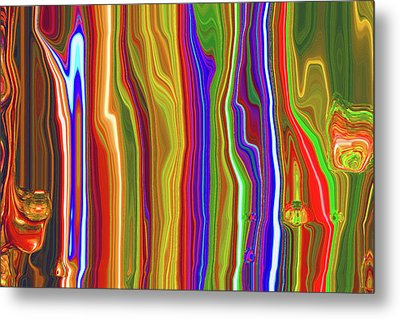 Metal Print featuring the photograph Flowing Light by Larry Bishop