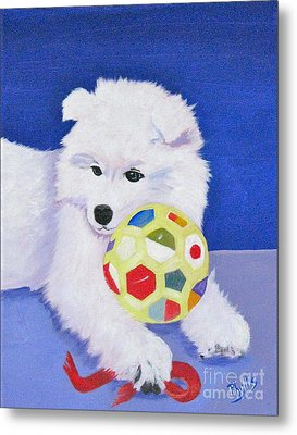 Fluffy's Portrait Metal Print