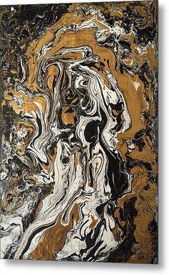 Fluid Gold Metal Print