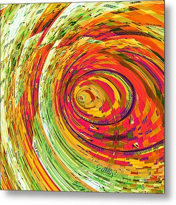 Fluorescent Wormhole Metal Print by Shawna Rowe