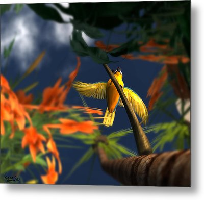 Flutter Metal Print by Monroe Snook