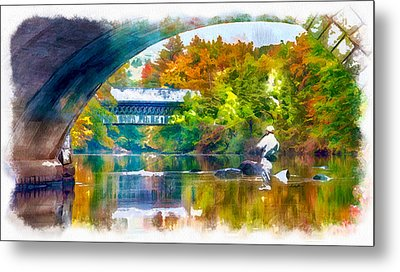 Fly Fishing In New England Metal Print by Anthony Caruso