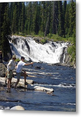 Fly Fishing The Lewis River Metal Print by Marty Koch