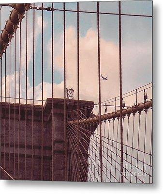 Fly Over Brooklyn  Metal Print