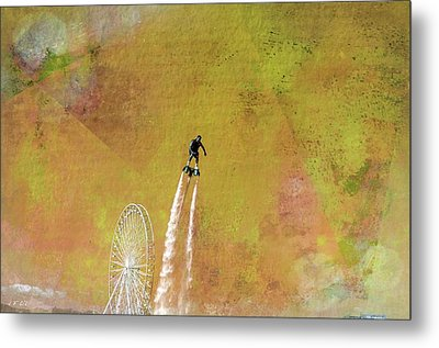 Flyboard, Sketchy And Painterly Metal Print