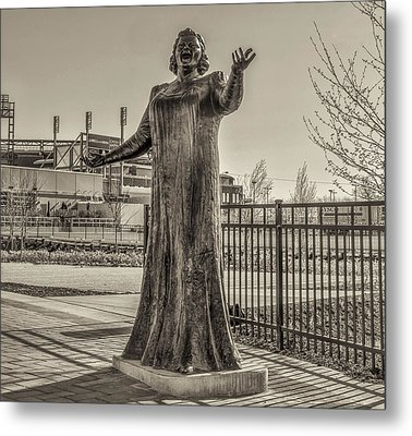 Flyer Good Luck Charm - Kate Smith In Sepia Metal Print by Bill Cannon