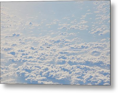 Metal Print featuring the photograph Flying Among The Clouds by Bill Cannon