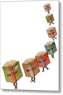 Flying Books02 Metal Print by Kestutis Kasparavicius