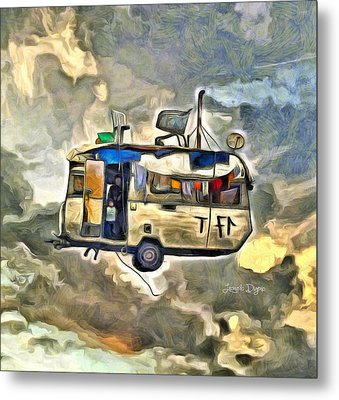 Flying Caravan Metal Print by Leonardo Digenio