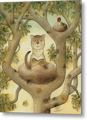 Flying Cat Metal Print by Kestutis Kasparavicius