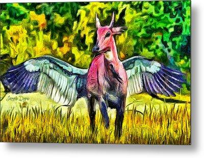 Flying Cow - Pa Metal Print by Leonardo Digenio