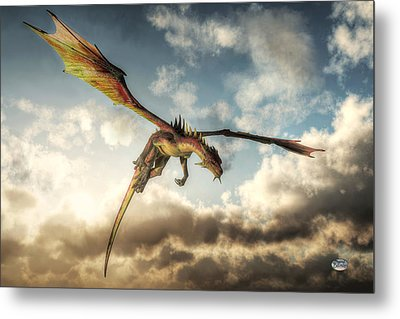 Flying Dragon, Death From Above Metal Print