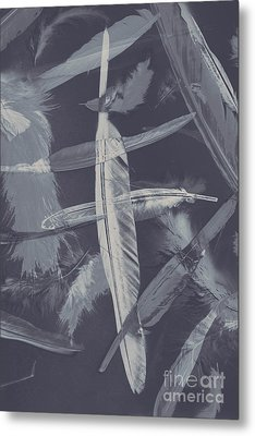 Flying Featherabstract Background Metal Print by Jorgo Photography - Wall Art Gallery