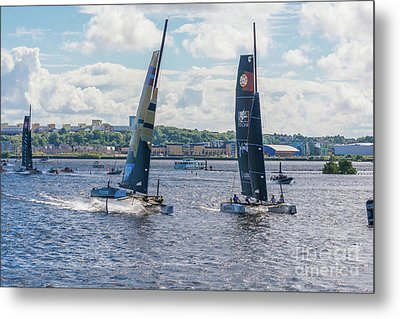 Flying Finish Metal Print by Steve Purnell
