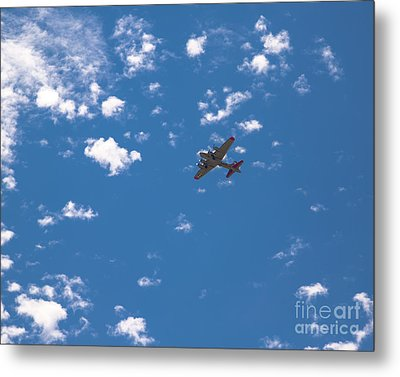 Flying Fortress Flying Metal Print