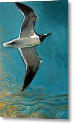 Metal Print featuring the painting Flying Free by Suzanne McKee