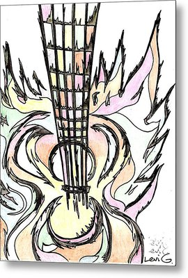Flying Guitar  Metal Print by Levi Glassrock