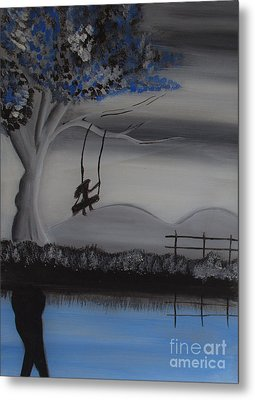 Flying High On Swing Metal Print by Nayna Tuli Fineart