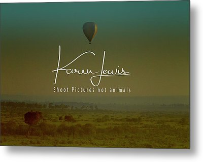 Metal Print featuring the photograph Flying High On The Masai Mara by Karen Lewis