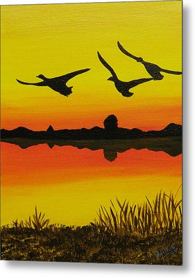 Flying Home Metal Print by Doug Wilkie