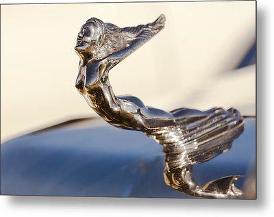 Flying Lady Hood Ornament Metal Print
