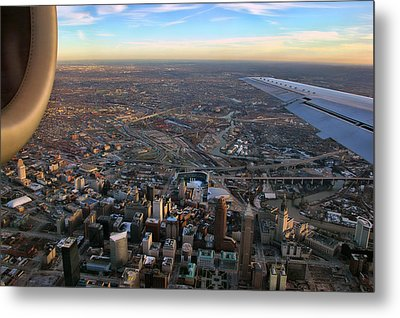Flying Over Cincinnati Metal Print