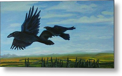 Flying Over The Tanana Flats Metal Print by Amy Reisland-Speer