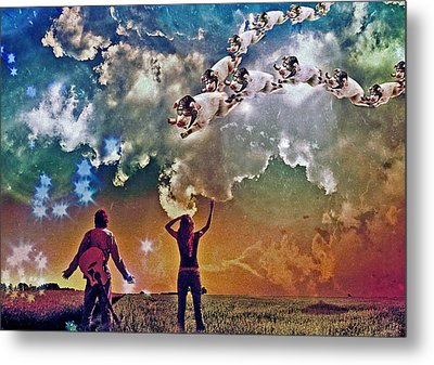 Flying Pigs Metal Print by Marian Voicu
