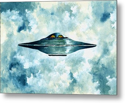 Flying Saucer Metal Print by Michael Vigliotti