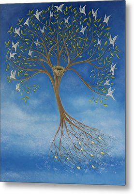 Flying Tree Metal Print