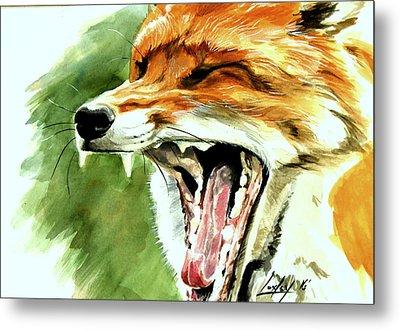 Flynn The Fox Metal Print by Katharine Schafer