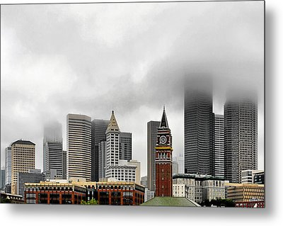 Fog Accents Of Seattle Wa Metal Print by Christine Till