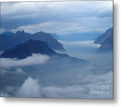 Fog And Clouds Metal Print by Riccardo Mottola