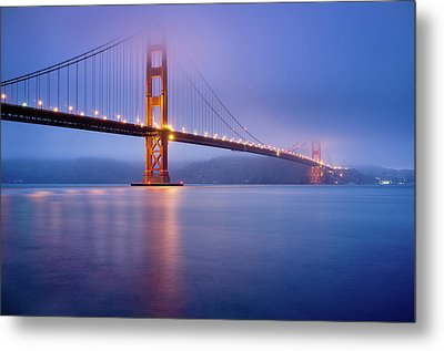 Fog City Bridge Metal Print by Jonathan Fleming