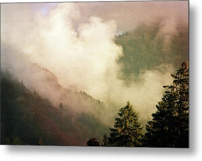 Fog Competes With Sun Metal Print