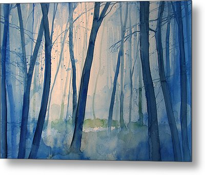 Fog In The Forest Metal Print by Alessandro Andreuccetti