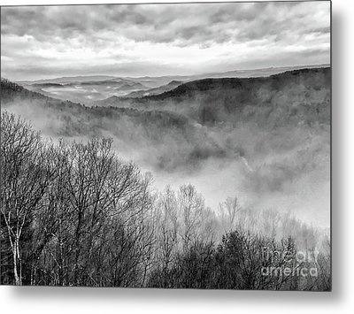 Metal Print featuring the photograph Fog In The Mountains - Pipestem State Park by Kerri Farley