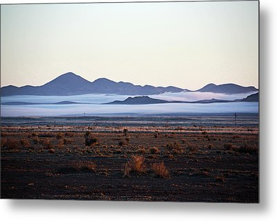 Fog In The Peloncillo Mountains Metal Print