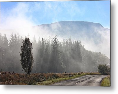 Fog On The Road To Fintry Metal Print
