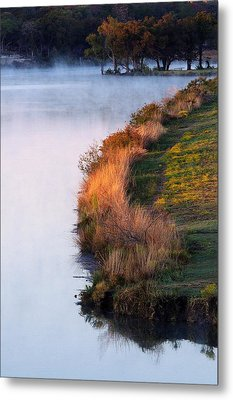 Fog Over The Lake Metal Print