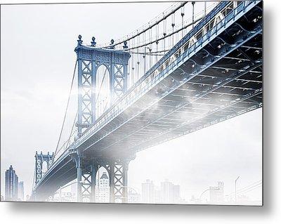 Fog Under The Manhattan Metal Print by Az Jackson