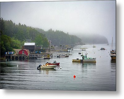 Foggy Afternoon In Mackerel Cove  Metal Print by Rick Berk