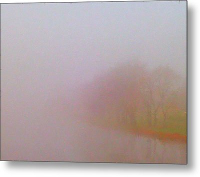 Foggy Autumn Morning Metal Print