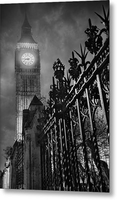 Foggy Big Ben Metal Print by Thomas Zimmerman