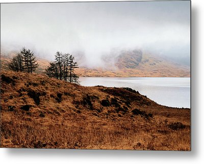 Foggy Day At Loch Arklet Metal Print